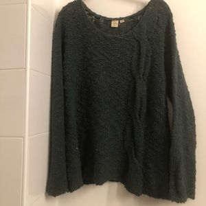 Green Knit Anthropologie Sweater